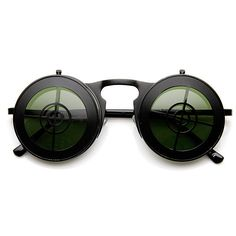 34791249de6 Flip-Up Sharpshooter Steampunk Glasses - Black