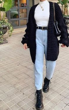 Trendy Fall Outfits, Casual Winter Outfits, Winter Fashion Outfits, Retro Outfits, Look Fashion, 90s Fashion, Outfit Winter, Grunge Outfits, Woman Fashion