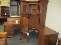 Bentley Corner Desk - eclectic - desks - columbus - Geitgey's Amish Country Furnishings