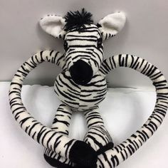 "FAO Plush Zebra Long Leg Stuffed Animal Black White 12"" Head to Toe #FAO Deer Stuffed Animal, Stuffed Animals, White Bulldog, Dog Backpack, Baby Deer, Bulldog Puppies, Head To Toe, Long Legs, Pet Toys"