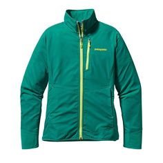 The Patagonia Women's All Free Jacket is a lightweight, soft shell jacket that moves, breathes and protects without restraint when you're on the rock.