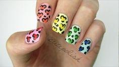 Rainbow Heart Leopard Nail Art by CutePolish