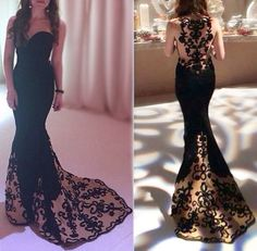 Gorgeous Prom Dresses,Long Black Prom Dresses,Embroidered Prom Dresses,Long Fitted Prom Dresses,Sexy Evening Dresses