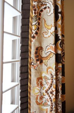 My living room alcove Curtains And Draperies, Drapery Panels, Window Drapes, Blinds For Windows, Window Coverings, Curtain Trim, Valances, Drapery Designs, Drapery Ideas