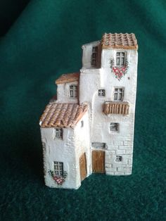 Clay Houses, Ceramic Houses, Putz Houses, Paper Houses, Miniature Houses, Ceramic Clay, Fairy Houses, Pottery Houses, Slab Pottery