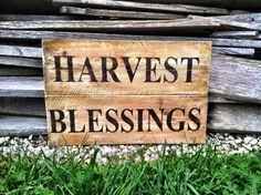Fall Sign Fall Decor Harvest Blessings Sign by CharmingWillows, $28.00