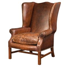 Image of: Leather Wingback Chair pretty