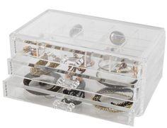 Grand coffret range-bijoux 3 tiroirs