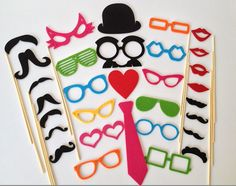 Photo Booth Props 31 Pieces Set  Photobooth by Partyanimalstuff, $30.00