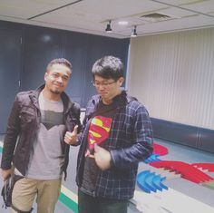 Batman apparently met Superman haha.