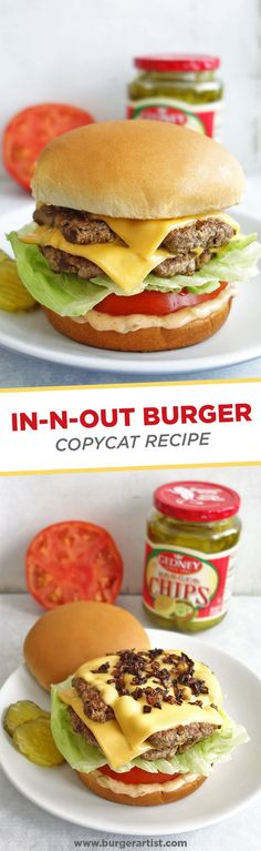 Want to make an awesome burger at home? Try out this In-N-Out Burger Recipe Copycat! Two burger patties with cheese, grilled onions, and burger sauce. YUM!