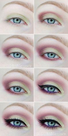 Use the perfect make-up in spring eye makeup for the spring Eye Makeup Steps, Eye Makeup Art, Makeup Inspo, Makeup Inspiration, Makeup Ideas, Makeup Trends, Makeup Tutorials, Fairy Makeup, Makeup Set