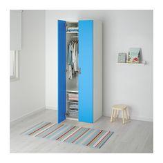 STUVA Kleiderschrank - weiß/blau - IKEA