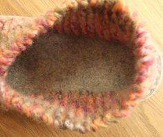 Jo's Toes Crossover knitted slipper with slip-resistant sole is a great little pattern. It is so easy to knit in simple garter stitch. It's cosy and packable.