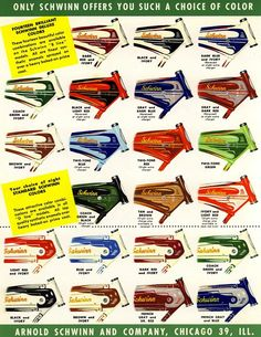 Schwinn bike colours - Wow! Why can't we get automobile companies to do this?
