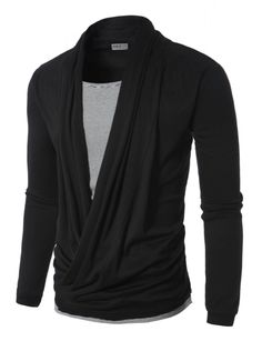 Doublju Mens Cardigan Style T-shirts | Amazon.com