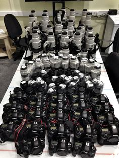 These are all the cameras and lenses that the Getty Images photographers have brought to the Sochi Winter Games. Exactly $425,659.59