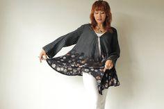 Batik Tunic / Hand Dye jacket / Long Sleeve Tunic от cocoricooo