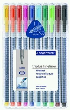 STAEDTLER triplus fineliner. the pens that get me through med school.