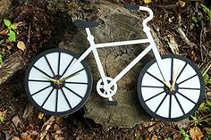 Silver Bike double time wooden wall clock ** Click on the image for additional details.