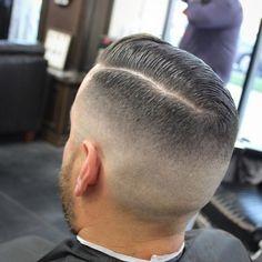 Barber Haircuts, Haircuts For Men, Men's Haircuts, Short Hair Cuts, Short Hair Styles, Comb Over Fade, Grow Out, Fade Haircut, Barber Shop