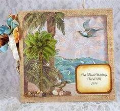 Beach Wedding Album, Destination Wedding Scrapbook, Photo ... #weddingalbums