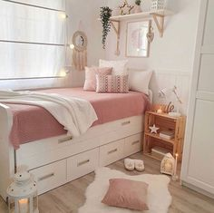 Home design: 12 Amazing Master Bedroom Design Ideas Suitable to this Summer Cute Bedroom Decor, Room Design Bedroom, Bedroom Decor For Teen Girls, Girl Bedroom Designs, Stylish Bedroom, Room Ideas Bedroom, Home Room Design, Small Room Bedroom, Bedroom Kids
