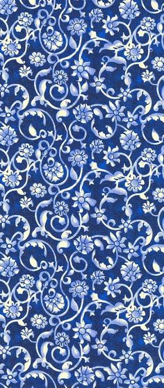 quenalbertini: Blue and white wallpaper Blue And White Wallpaper, Blue And White Fabric, Pattern Art, Pattern Design, Surface Pattern, Inspiration Wand, Le Grand Bleu, Foto Transfer, Art Graphique