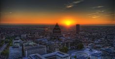 Sunset on Brussels from THE HOTEL By Emil Valdelin