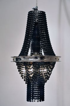 RECYCLED BICYCLE CHAIN CHANDELIERS,