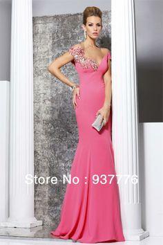 New  Style  Sexy  V-neck  Backless   Noble  Celebrity  Dresses/High  Quality  Grace  Applique  Off  Shoulder Pageant   Dresses US $159.99 abiye - gece kıyafeti- davet- uzun elbise- nişan- düğün kına-  söz- koktey- kısa elbise pembe