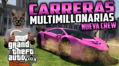 GTA 5 ONLINE - NUEVA CREW PARA JUGAR CARRERAS CON GANADOR MULTIMILLONARI...