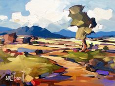 County Road by Carla Bosch. Original art on canvas.  www.facebook.com/carlabosch.art