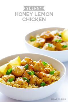 Skinny Honey Lemon Chicken | gimmesomeoven.com