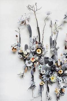 Flower Collages by Anne ten Donkelaar - ArtisticMoods.com