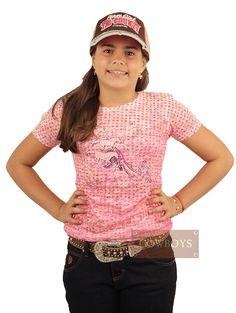 Blusinha Tecido de Bolinhas Rosa Blusa feminina infantil, tecido extremamente leve e confortável muito indicado para o dia-a-dia, para levar sua cowgirl para passear e até mesmo passar o dia na fazenda ou haras. As meninas adoram estar sempre no estilo country, e essa e uma peça que possui uma combinação muito fashion com estampa de cavalinhos e strass na cor rosa, uma verdadeira cowgirl vai amar, é uma união de bom gosto com muita qualidade.