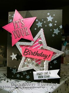 Marquee Messages, Perpetual Birthday Calendar, Pop of Pink, Birthday Card, Stars