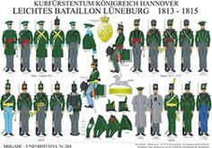 チャート204:ハノーバーの有権者/王国:ライト大隊リューネブルク1813から1815へ