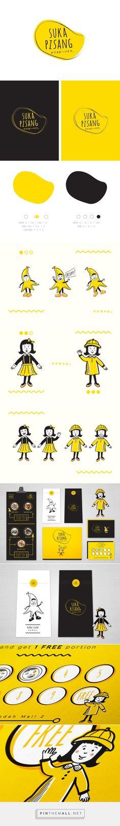 Suka Pisang — Crispy Banana  #branding #illustration #typography