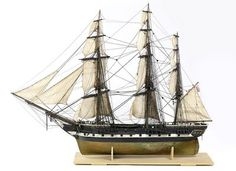 Model of a Blackwall frigate East Indiaman, c. 1840.