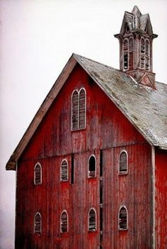 Gorgeous 1800s barn, in Cygnet, Wood County, Ohio.  Photographed by Douglas Thayer, 2/2009.                                                                                                                                                      More
