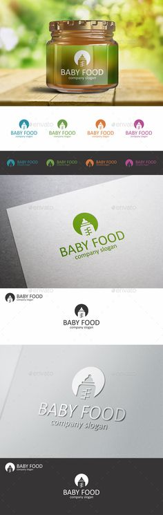Baby Food Child Bottle Logo — Vector EPS #kindergarten #care • Available here → https://graphicriver.net/item/baby-food-child-bottle-logo/10362720?ref=pxcr