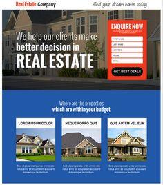 London - Real Estate Landing Page | London real estate, Template ...
