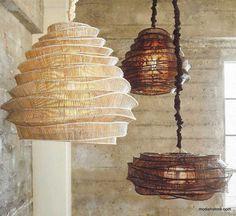 Home Lighting, Modern Lighting, Pendant Lighting, Pendant Lamps, Pendants, Bamboo Pendant Light, Cloud Lights, Bamboo Weaving, Light Project