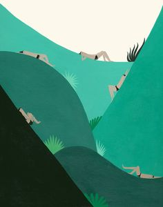 Art Print  Green Space by laurageorge on Etsy