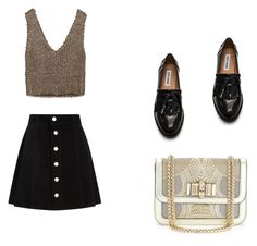 """""""Pary hard"""" by anne-nocito on Polyvore featuring moda, Zara, AG Adriano Goldschmied, Steve Madden y Christian Louboutin"""