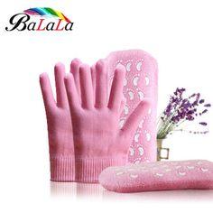 2 pares/lote de SPA Gel meias e luvas de veludo suave esfoliante hidratante clareamento beleza cuidados com os pés meias de silicone
