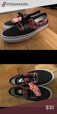 83d51611bb9 Vans sneakers Black and red toned never before worn vans sneakers Vans  Shoes Sneakers Vans Black