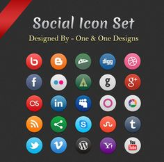 100+ Free Social Media Icon Sets For Designers | free social media icons | Graphic Design Inspiration