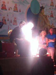 Karmapa and Lama Ole Nydahl in his shiny form